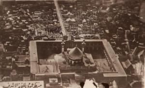 تصویر قدیمی از شهر نجف و حرم مطهر امام علی علیه السلام